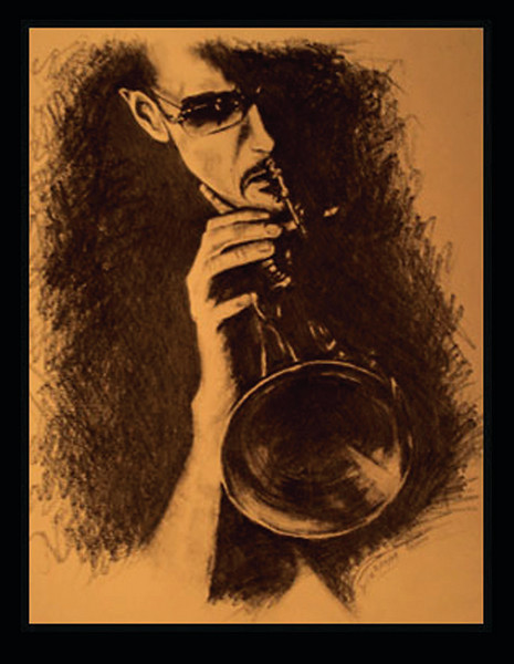 Toronto's own young jazz iconoclast - Brownman, on flugelhorn<br /> <br /> (photo-credit: photopix by tina)