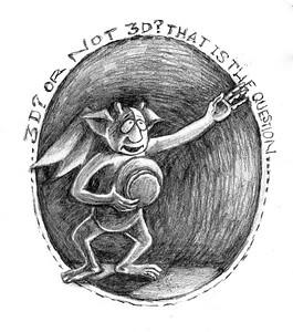 Drama Gargoyle, pencil