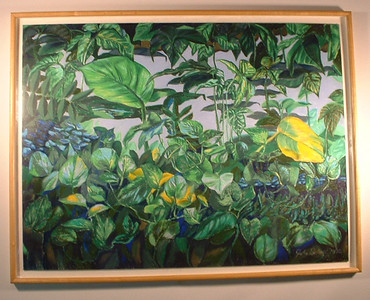"©John Rachell Title: Undergrowth Image Size: 40""w X 36""d Dated: 1992 Medium & Support: Pastels on Artboard Signed: LR Signature Exhibited: Bruce Webber Gallery, 1993"