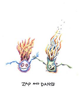 Zap and Dants, color pencil