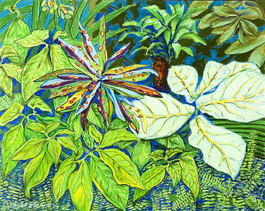 "©John Rachell Title:Garden Series, March 16, 2005 Image Size: 23""d X 29""w Dated: 2005 Medium & Support: Pastels on Strathmore 2-ply Paper Signed: LL Signature"