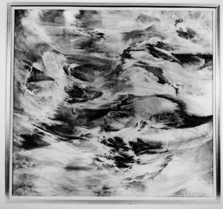 "©John Rachell  Title: Cloud Forms; Illusions Image Size: 40""w X 38""d Dated: 1975 Medium & Support: Charcoal on cotton canvas Signed: LR Signature"