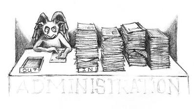 Admin Gargoyle, pencil
