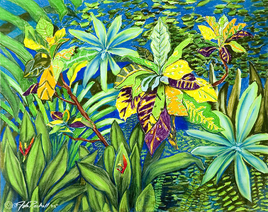 "©John Rachell Title:Garden Series, March 14, 2005 Image Size: 23""d X 29""w Dated: 2005 Medium & Support: Pastels on Strathmore 2-ply paper Signed: LL Signature"