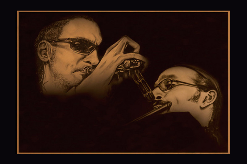 The Ali Brothers - Brownman (trumpet) & Marcus Ali (flute)<br /> <br /> (photo-credit: photopix by tina)