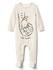 babyGap &#124 Disney Baby Dumbo double-face footed one-piece - oyster