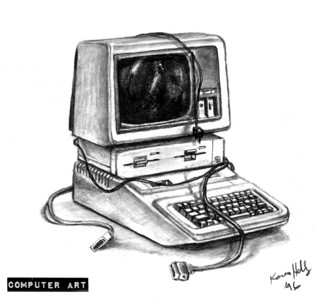 Drawing of Apple IIe