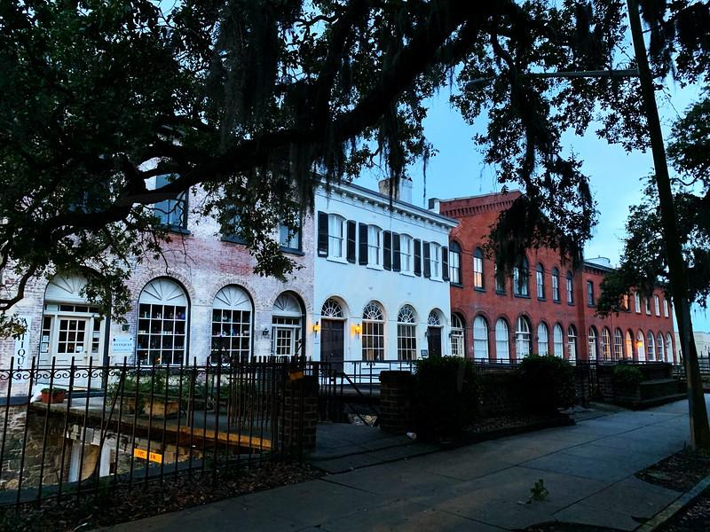 A River Street Scene in Savannah