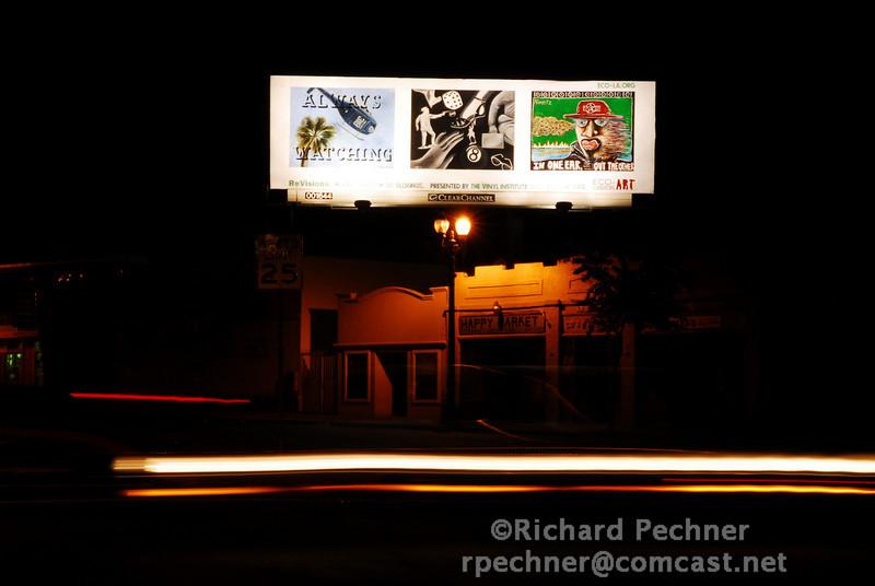 Joe O'Niel, Barry Wolfryd & Jon Nimetz installation at Bancroft and 67th Street, Oakland, CA.