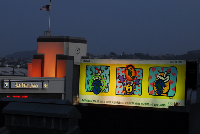 """""""It's Your World"""" by Lee Ann Goya, located at South Van Ness and Howard St, San Francisco."""