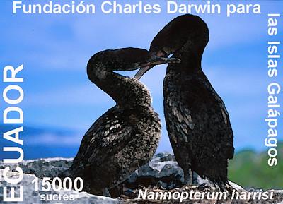 Galapagos cormorant stamp 1999