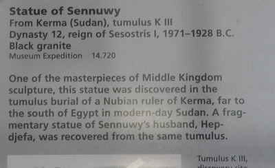 Statue of Lady Sennuwy Descriptive Card IMG 9057