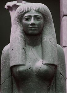 Statue of Lady Sennuwy - egyptianwoman4 - with eyes