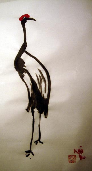 peinture chinoise par Franck kaiho 2006