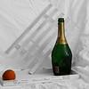 Orange with bottle