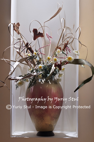 Vase  with dry flowers