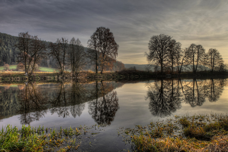 Late Autumn Reflection 2 - At the River Regen