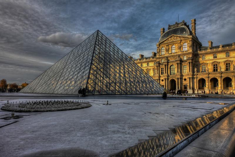 Circle - Pyramid - Palace  Louvre Paris