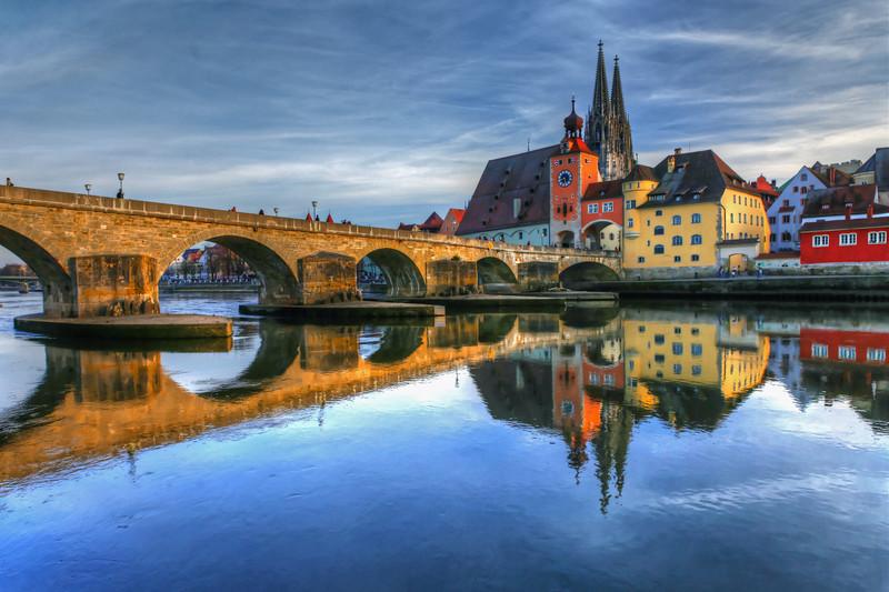 Regensburg in Pastel Colors