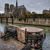 Notre Dame de Paris and Restaurant Boat