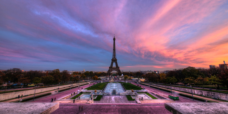 Purple Skys at the Eiffel Tower