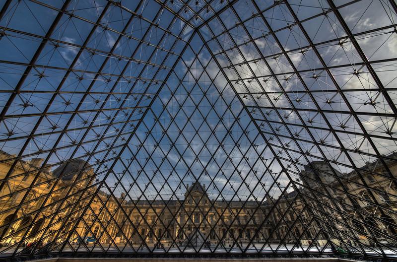 Inside the Pyramid - Louvre Paris