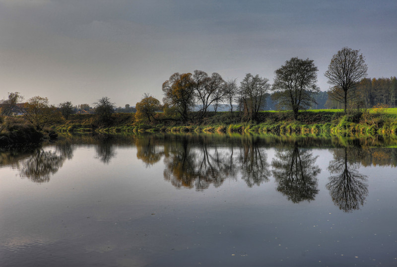 Reflected Beauty of Nature - At the River Regen in Bavaria