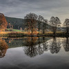 Late Autumn Reflection - At the River Regen
