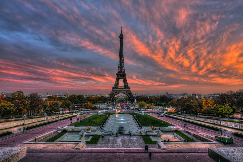 Crimson Skys at the Eiffel Tower