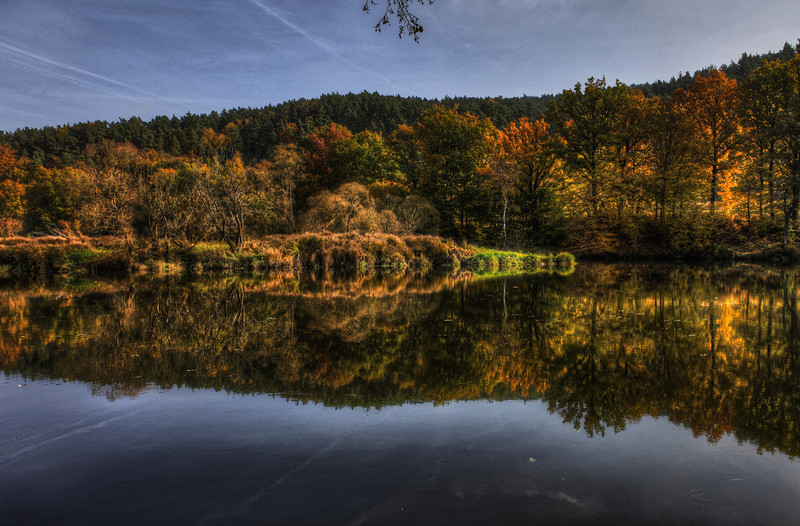 Yellow Green and Blue - Autumn Reflections 4