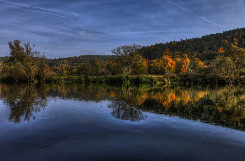 Yellow Green and Blue - Autumn Reflections 2