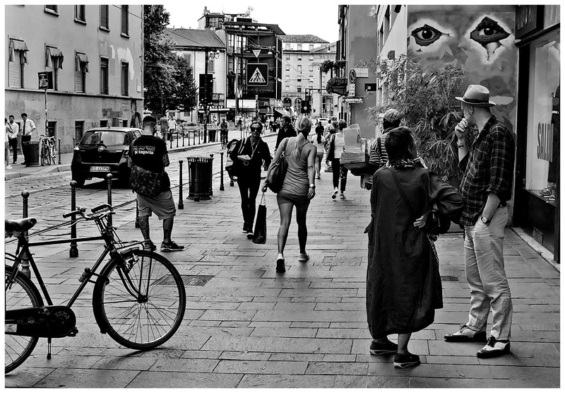 Street Scene Ticinese District Milan