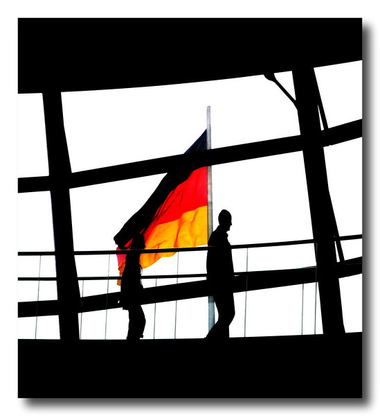 Reichstag Dome - Flag and Figures