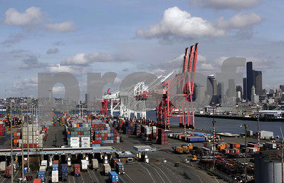 The Port of Seattle and the Duwamish River waterway.