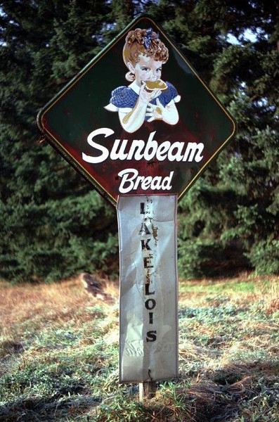 The Sunbeam Bread girl is an icon of yesteryear throughout America especially in Lacey, WA