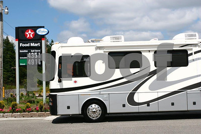 Large RVs continue to roll down the highways of America dispite the rising price of gas. WA