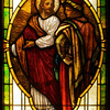 This window illustrates the parable of the rich young man who comes to Jesus to ask what he must do to be saved.  It is based on a painting.  I love the rich colors in this window.  Close-up views of the details are stunning.