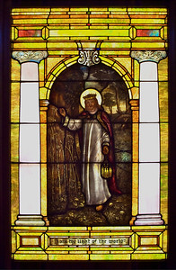One of the highlights of our sanctuary windows.  It is based on a very famous painting by William Holman Hunt.  The colors and details in it are amazing.
