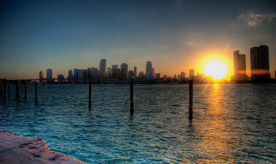 Sunset in MIami