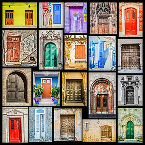 Doors of the world (for printing only in square sizes)