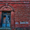 No Barking<br /> 20 x 30 Float Mounted MetalPrint - High Gloss