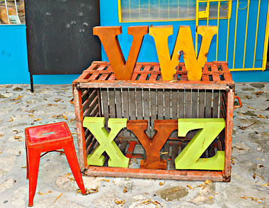 Crate and Letters