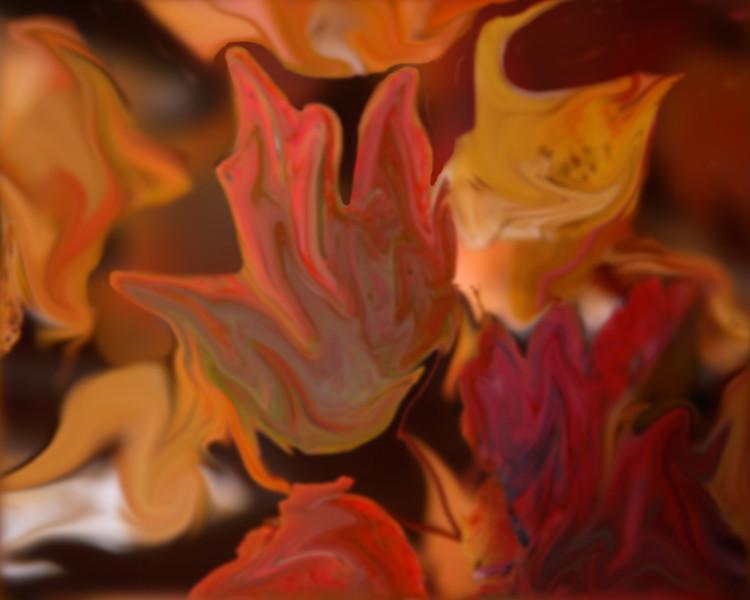 Orange leaves 2