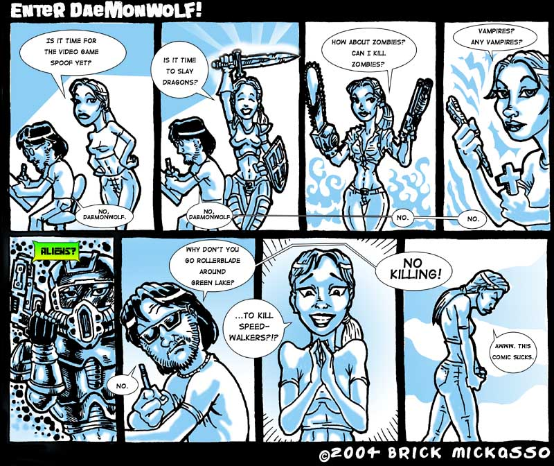 Cool cartoon about Daemonwolf!