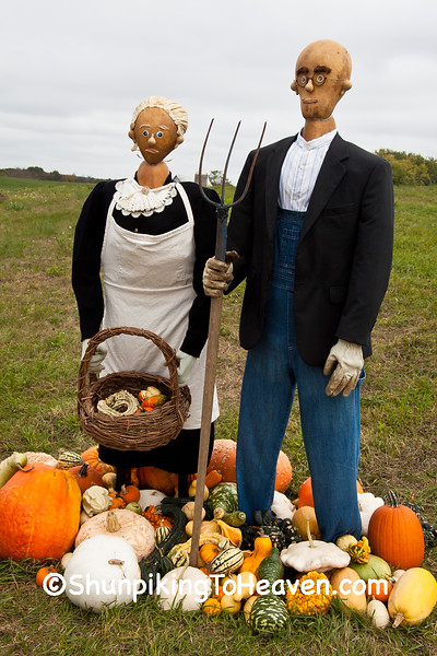 """American Gourdthic"" - Gourdon and Gourdenia, 2015 Farm/Art DTour, Sauk County, Wisconsin"