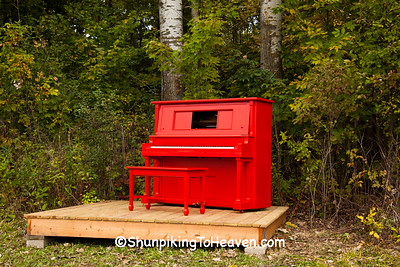 Red Piano Project by Reedsburg ArtsLink, 2015 Farm/Art DTour, Sauk County, Wisconsin