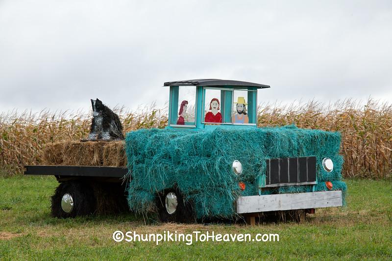 """Driving Miss Kiera"" Hay Sculpture, Sauk County, Wisconsin"