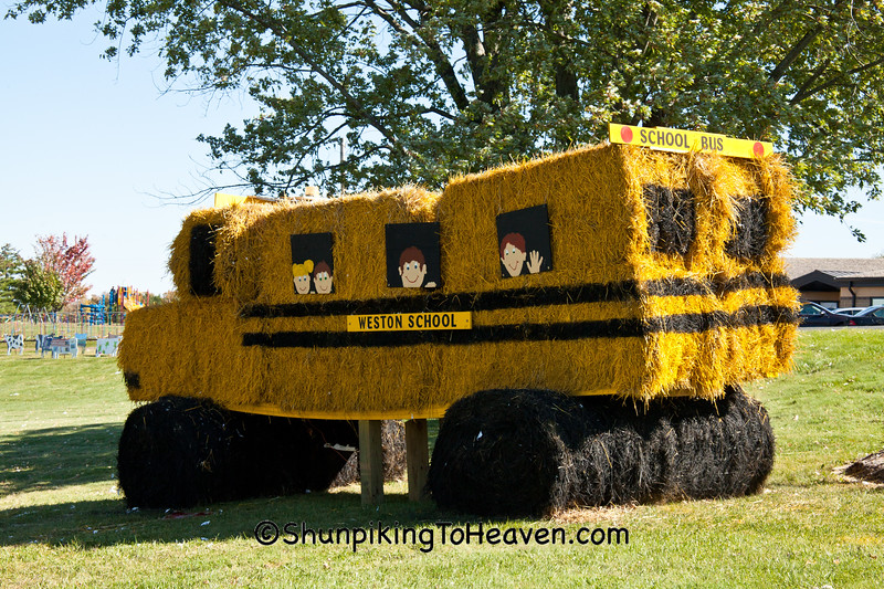Hay Bale School Bus, Sauk County, Wisconsin