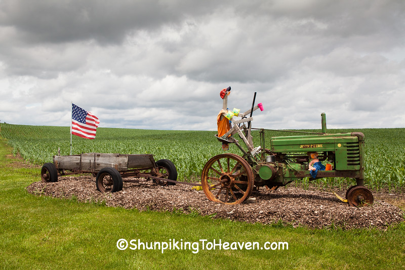 Patriotic Farm Display, Dubuque County, Iowa