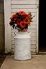 Flowers in Antique Milk Can, Vosseteig Farms, Trempealeau County, Wisconsin